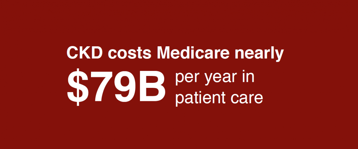 CKD costs Medicare nearly $79B per year in patient care