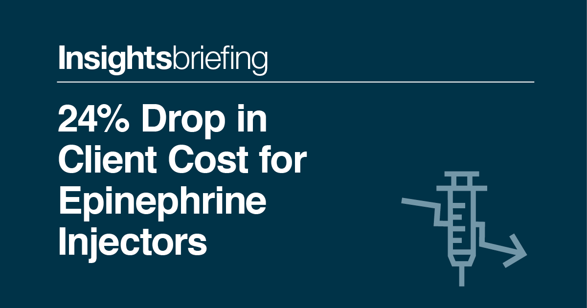 24  drop in client cost for epinephrine injectors