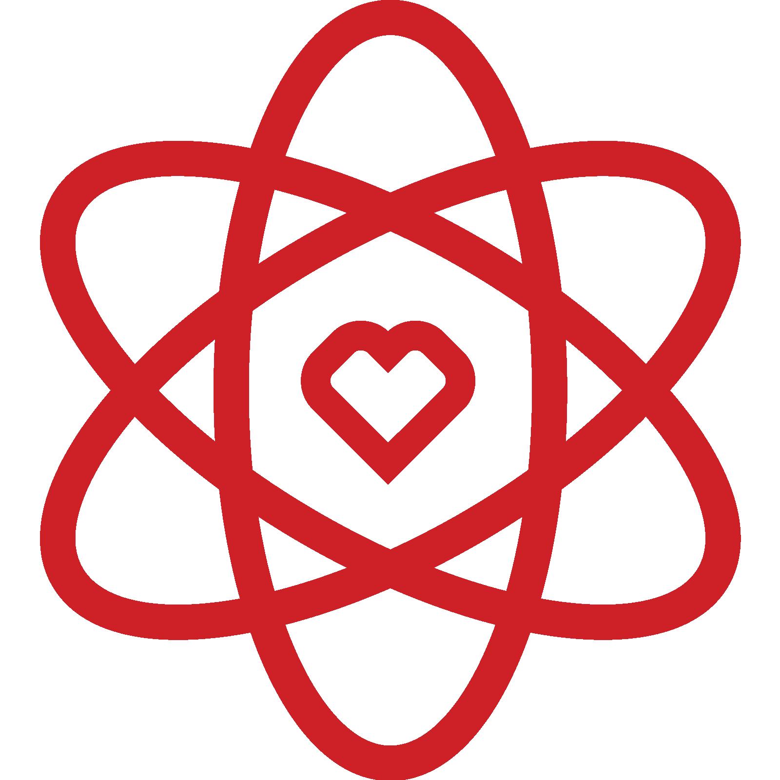Atom heart icon
