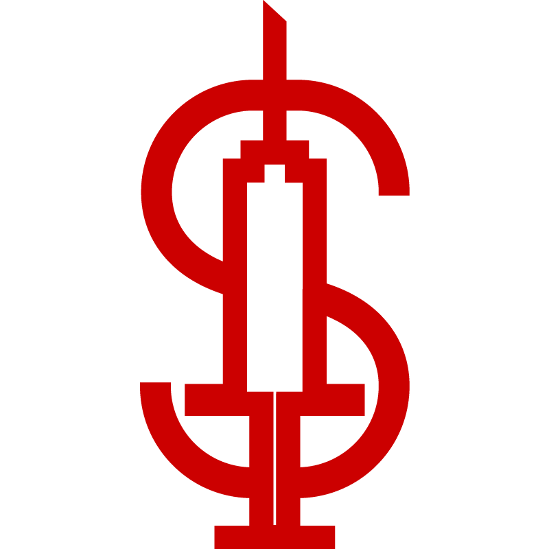 Icon of a syringe and dollar sign