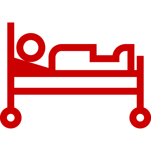 Icon of patient in hospital bed