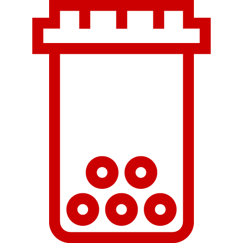 Icon of a pill bottle