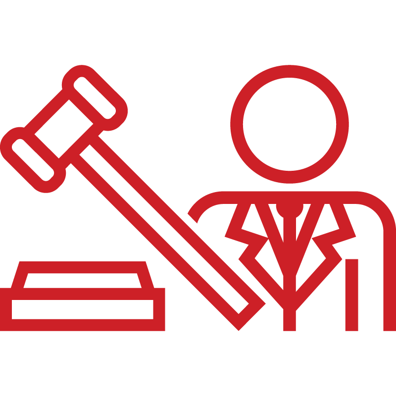 Icon of hammer, gavel and doctor