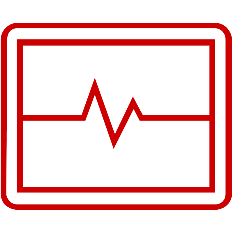 Icon of heart rate monitor screen