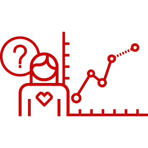 Pharmacist and line graph icon