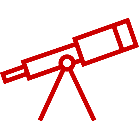 Icon of a telescope