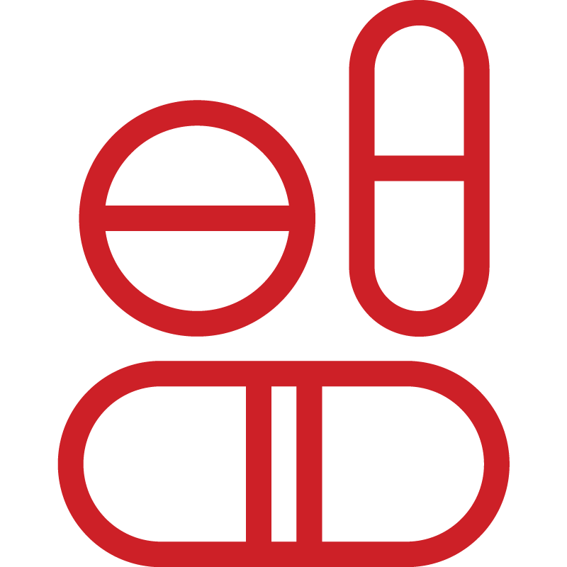 Group of pills icon
