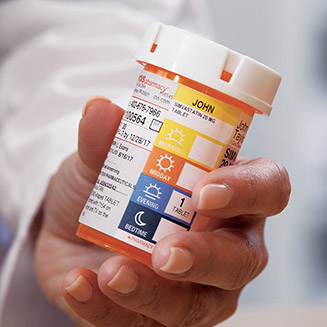Rx pill bottle with new ScriptPath prescription label