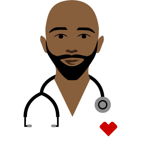 doctor with stethoscope pictogram
