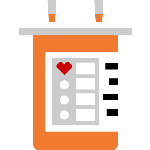 Pictogram of pill bottle