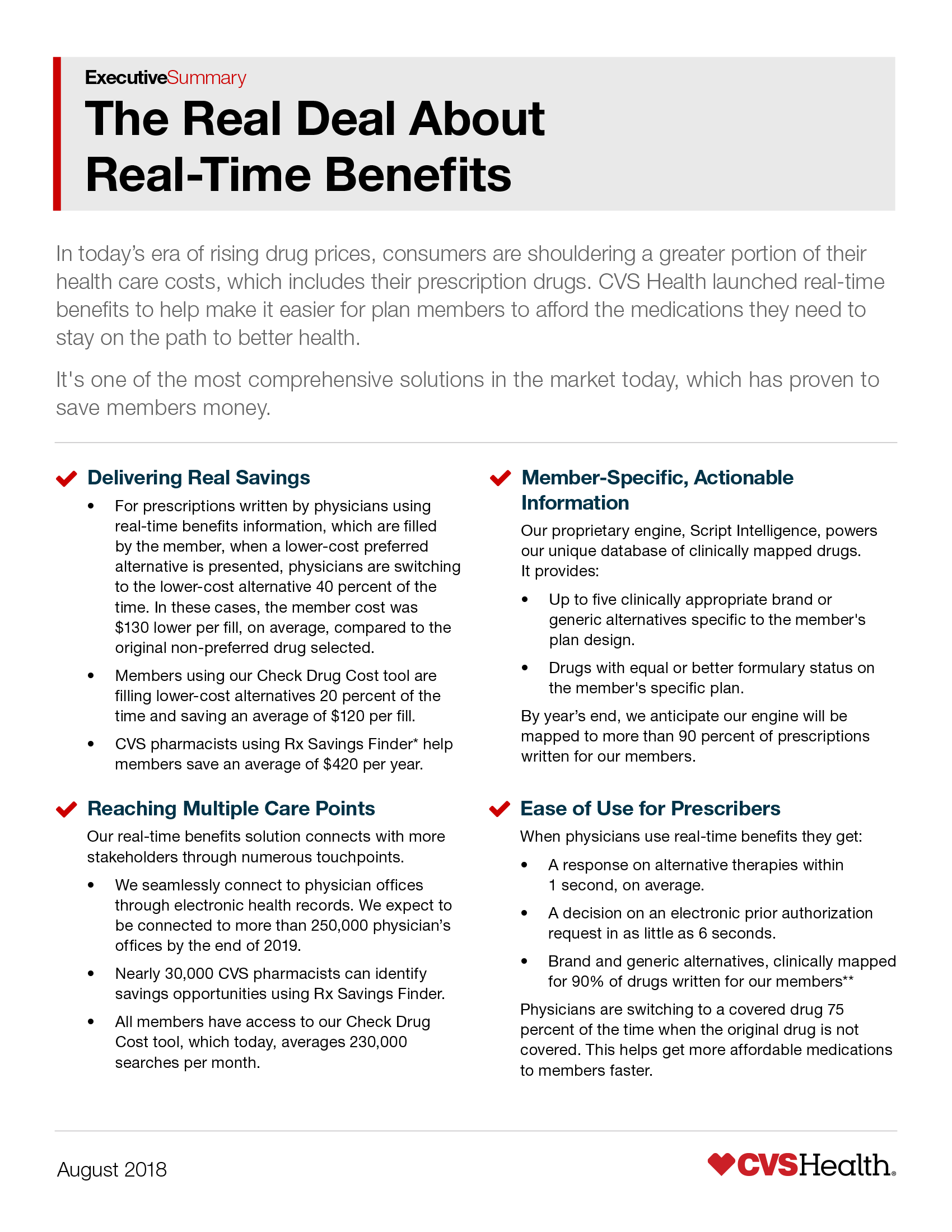 Proven Savings with Real-Time Benefits | CVS Health Payor Solutions